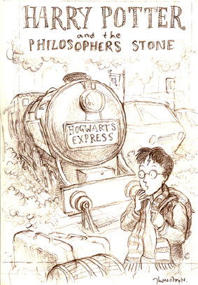 Harry Potter and the Philosopher's Stone Cover Sketch